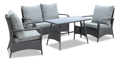 Nassau 4-Piece Conversation Set - Grey | Ensemble de conversation Nassau 4 pièces - gris | NA2G4SET