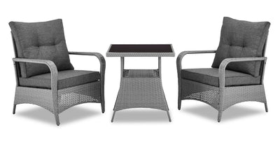 Nassau 3-Piece Patio Package - Grey|Ensemble de conversation Nassau 3 pièces - gris|NASA3SET