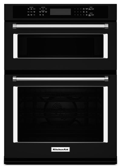 "KitchenAid 27"" Combination Wall Oven with Even-Heat™ True Convection - KOCE507EBL