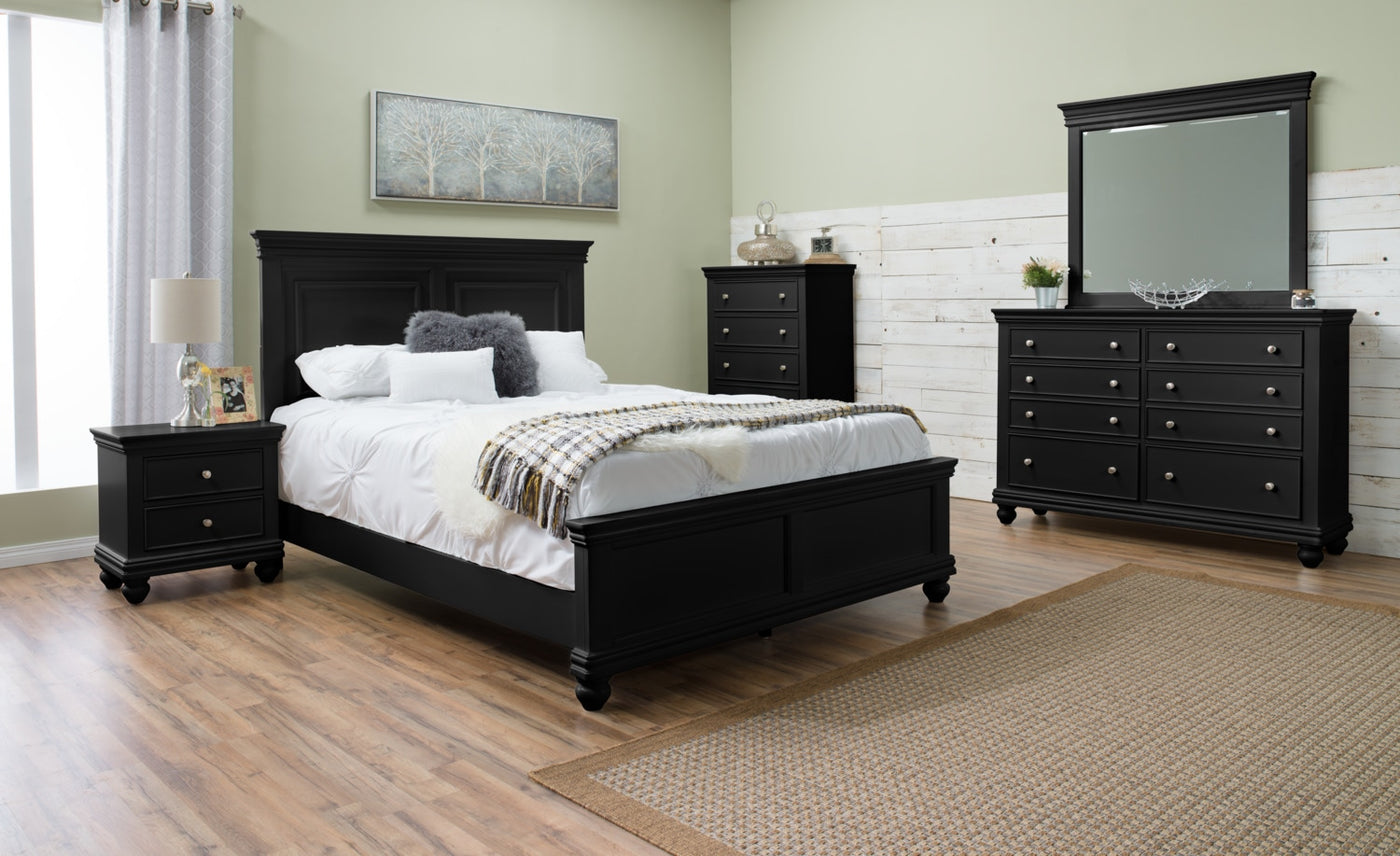 Bridgeport 6-Piece King Bedroom Set – Black