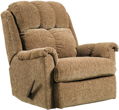 Brown Chenille Rocker Recliner - Contemporary style Chair in Brown