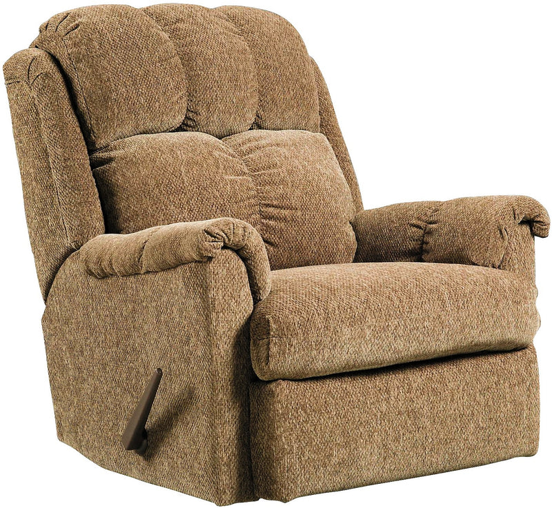 Brown Chenille Rocker Recliner|Fauteuil berçant inclinable en chenille brune