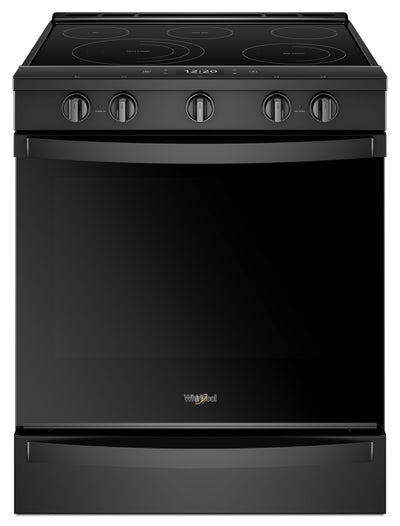 Whirlpool 6.4 Cu. Ft. Smart Slide-in Electric Range with Frozen Bake™ Technology - YWEE750H0HB - Electric Range in Black