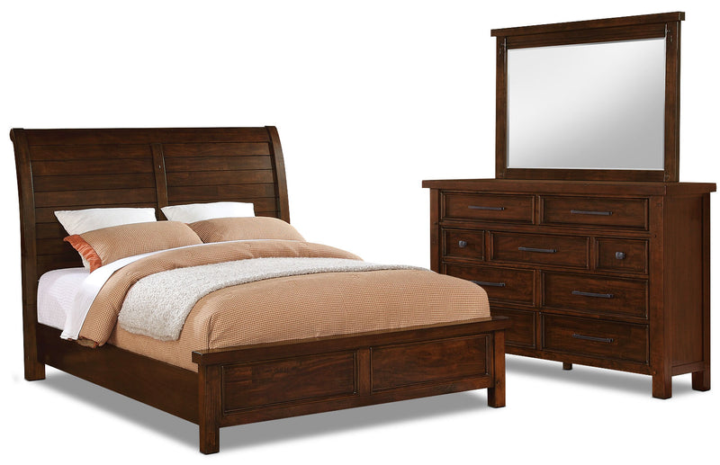 Sonoma 5-Piece Queen Bedroom Package - Dark Brown|Ensemble de chambre à coucher Sonoma 5 pièces avec grand lit