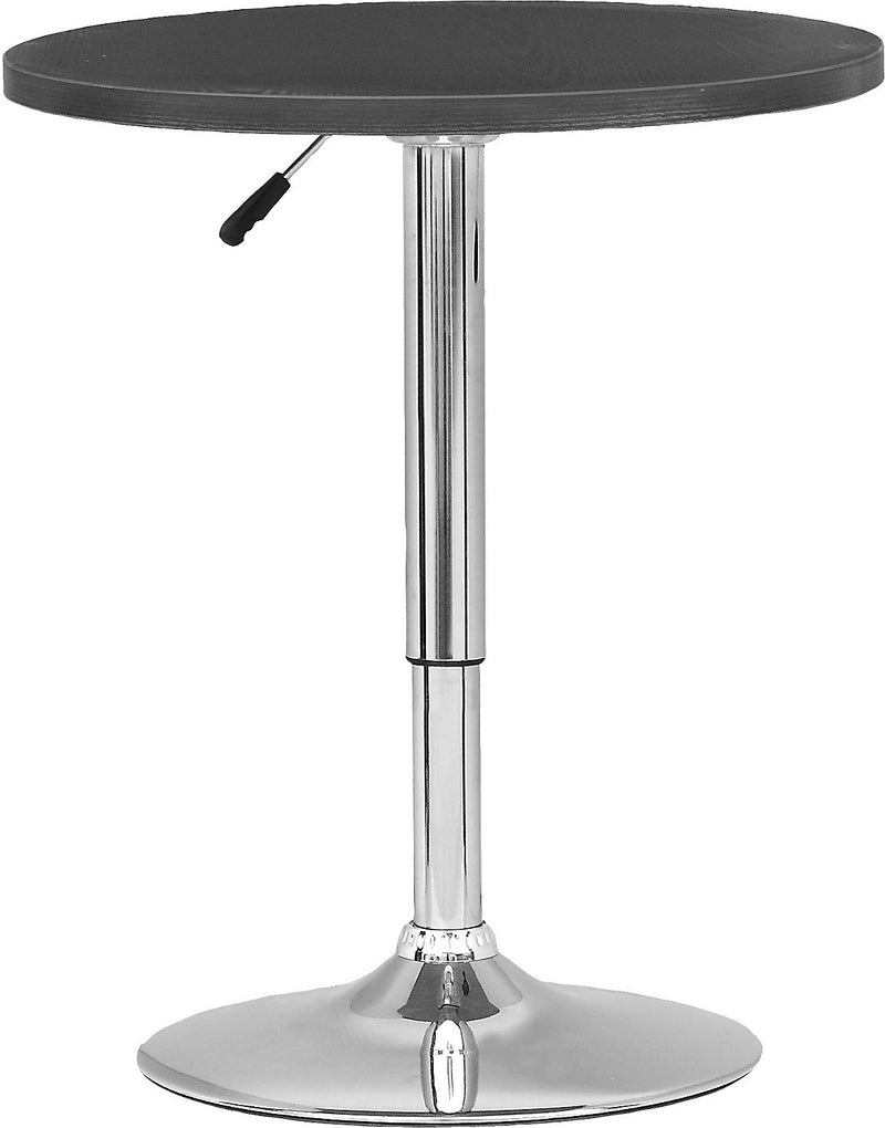 Adjustable Bar-Height Lift Table - Black|Table ronde en bois de hauteur réglable - noire