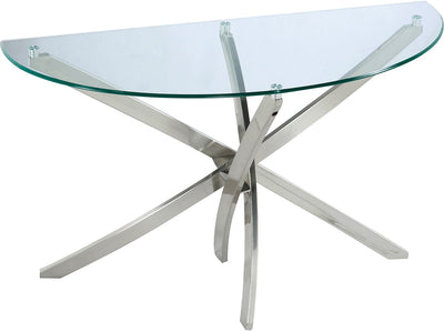 Zila Sofa Table - Modern style Sofa Table Glass/Metal