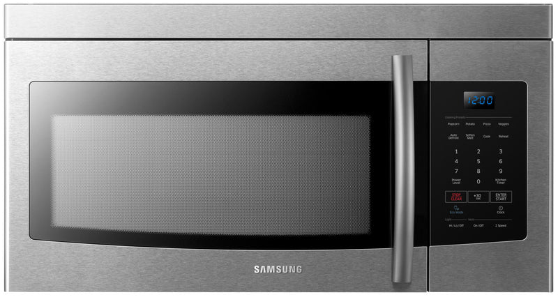 Samsung 1.6 Cu. Ft. Over-the-Range Microwave – ME16K3000AS/AC|Four à micro-ondes à hotte intégrée Samsung de 1,6 pi³ - ME16K3000AS/AC
