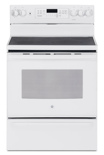 GE 5.0 Cu. Ft. Freestanding Electric Range – JCB840DKWW - Electric Range in White