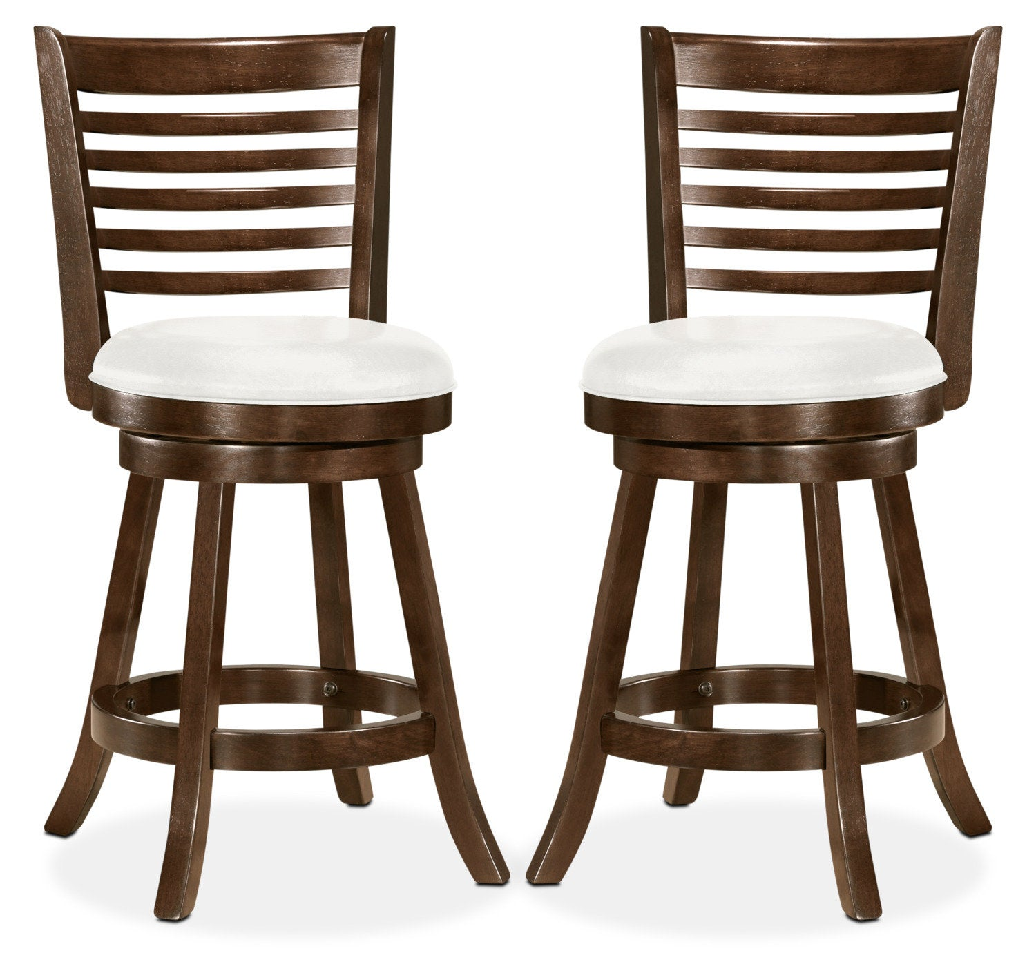 Saul counter height bar stool set of 2 whitetabouret bar saul de hauteur comptoir ensemble de 2 blanc