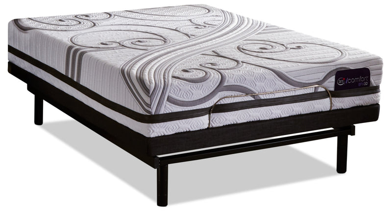 Serta IComfortR EFX3D Gravati Queen Mattress With Motion EssentialsR 3 Adjustable Base