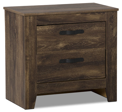 Remie Nightstand - Rustic style Nightstand in Oak Engineered Wood and Laminate Veneers