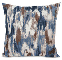 Rain Accent Pillow – Blue, Yellow and Ivory