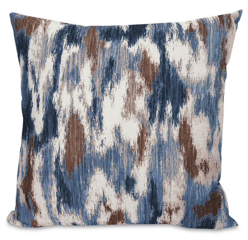 Rain Accent Pillow – Blue, Yellow and Ivory|Coussin décoratif Rain - bleu, jaune et ivoire