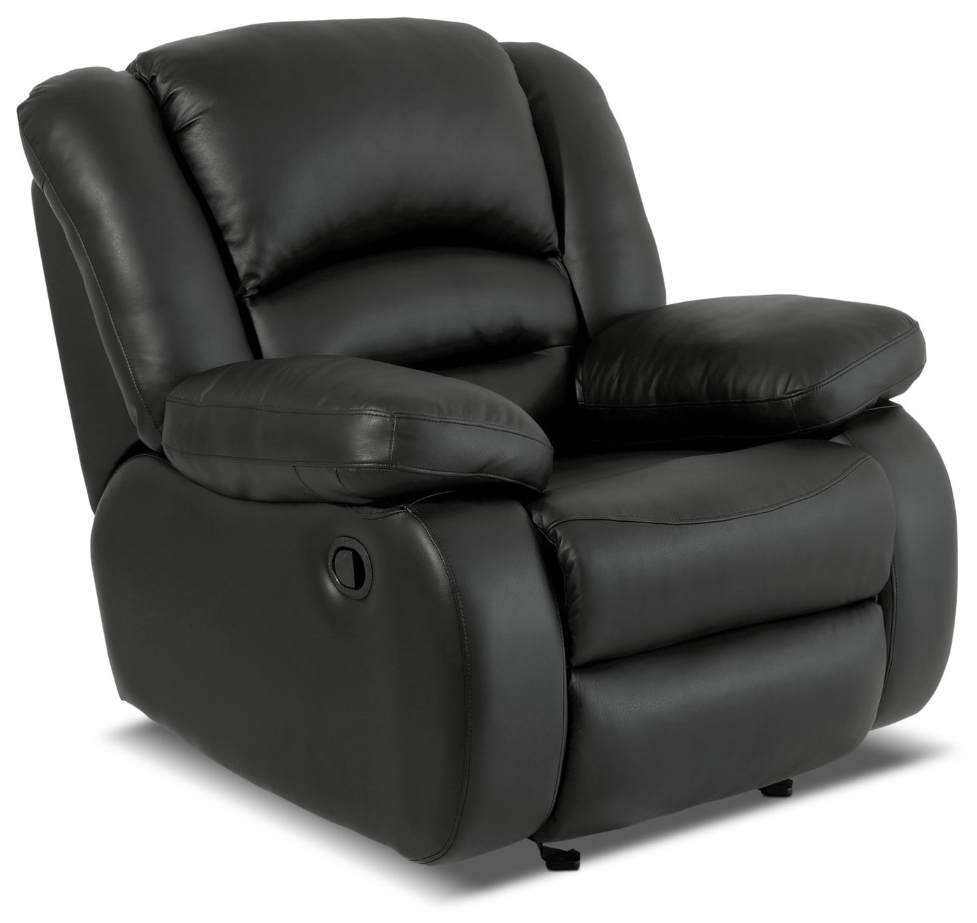 Toreno Genuine Leather Reclining Glider Chair Black The Brick Chic Original Hovering Hover To Zoom