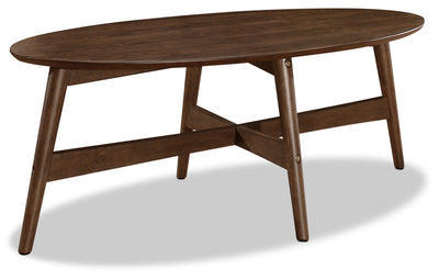 Atlanta Coffee Table - Retro style Coffee Table in Walnut Rubberwood Solids and Ash Veneers