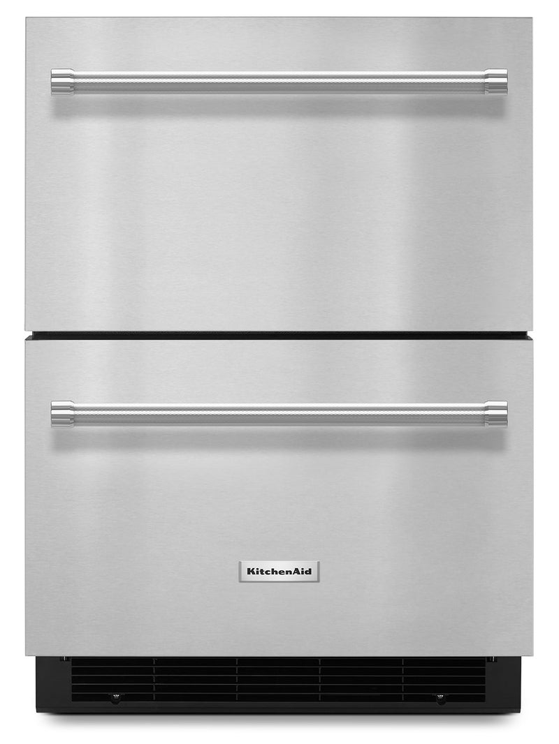 "KitchenAid 24"" Double Refrigerator Drawer – Stainless Steel
