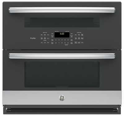 GE Profile Series 5.0 Cu. Ft. Built-In Twin Flex Convection Wall Oven – PT9200SLSS|Four mural à convection encastré Twin Flex de série GE ProfileMC de 5,0 pi3 - PT9200SLSS|PT9200SS