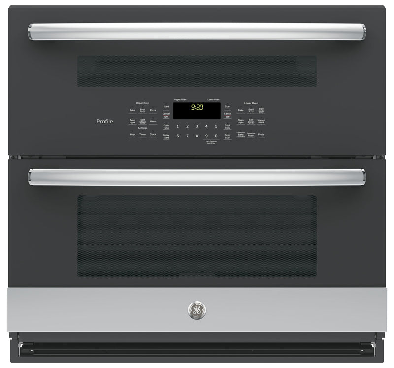 GE Profile Series 5.0 Cu. Ft. Built-In Twin Flex Convection Wall Oven – PT9200SLSS|Four mural à convection encastré Twin Flex de série GE ProfileMC de 5,0 pi3 - PT9200SLSS