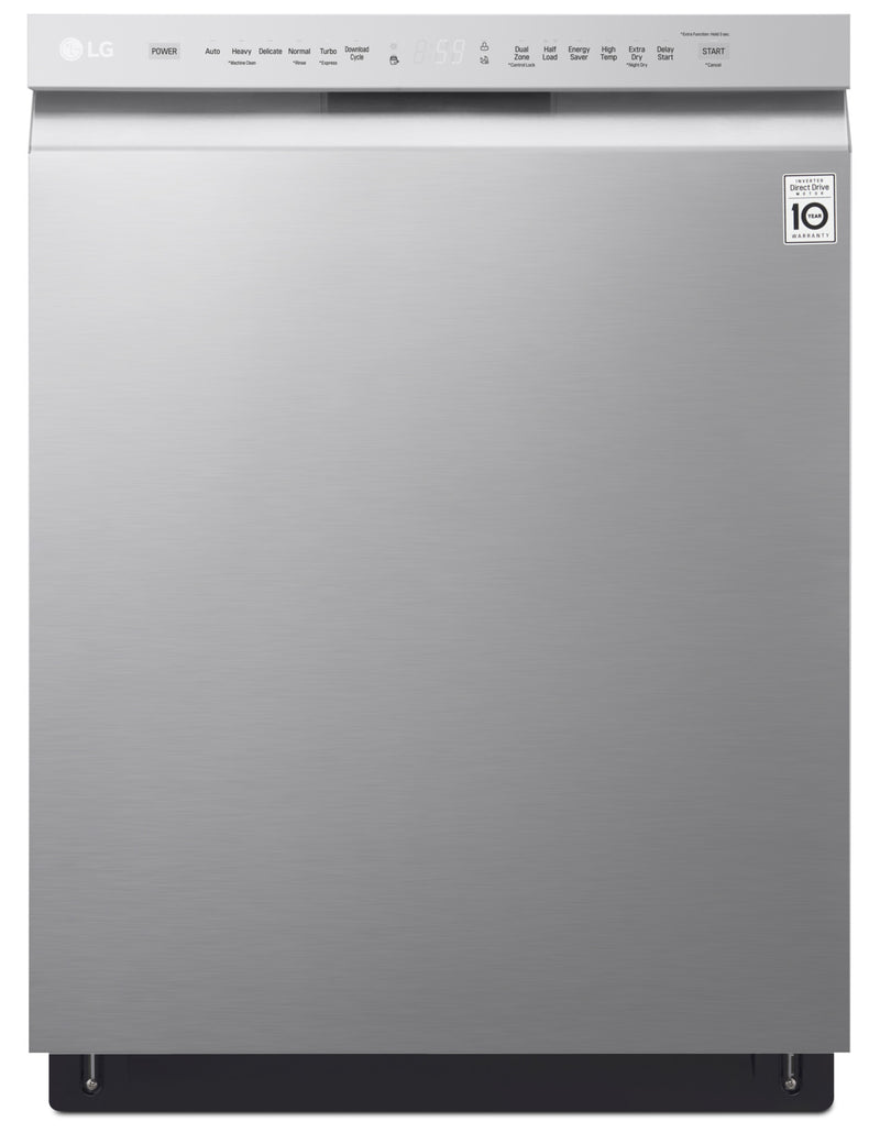LG 48 dBA Built-In Dishwasher with QuadWash™ – LDF5545ST|Lave-vaisselle encastré LG de 48 dBA avec QuadWashMC – LDF5545ST