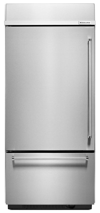 KitchenAid 20.9 Cu. Ft. Built-In Bottom-Mount Refrigerator - KBBL306ESS|Réfrigérateur avec congélateur au bas encastré KitchenAid de 20.9 pi3 - KBBL306ESS|KBBL306S