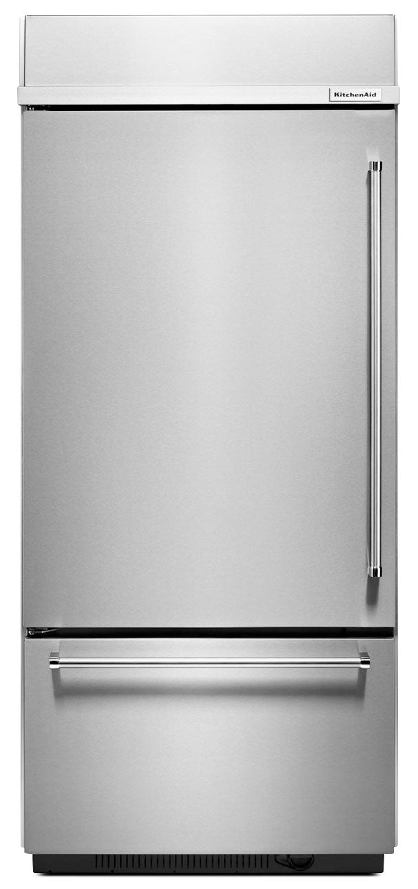 KitchenAid 20.9 Cu. Ft. Built-In Bottom-Mount Refrigerator – KBBL306ESS - Refrigerator in Stainless Steel