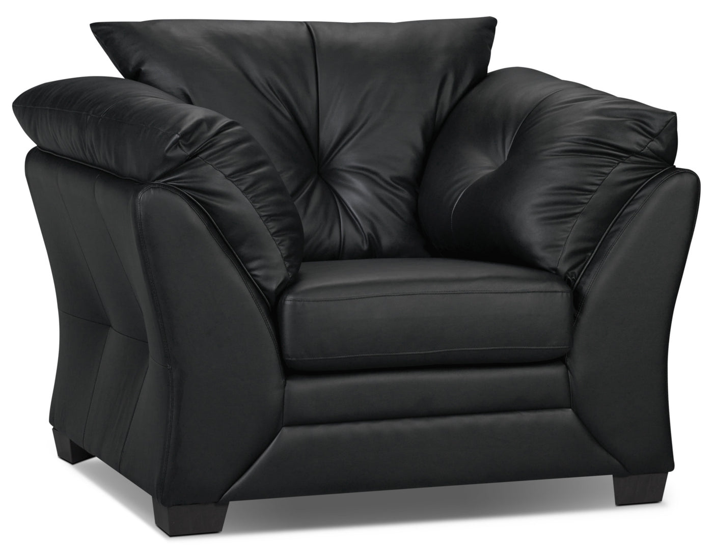 Enjoyable Max Faux Leather Chair Black Andrewgaddart Wooden Chair Designs For Living Room Andrewgaddartcom