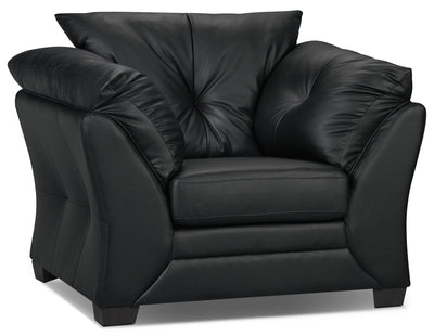 Max Faux Leather Chair - Black - Contemporary style Chair in Black