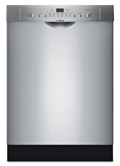 Bosch Ascenta® Series Recessed Handle Dishwasher - SHE3AR75UC - Dishwasher with Child Lock in Stainless Steel