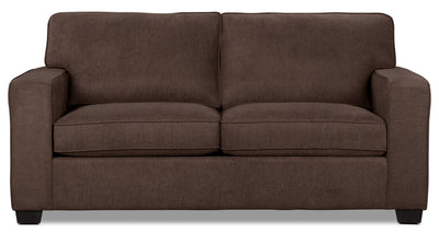 Fiona Chenille Full-Size Sofa Bed – Mocha - Contemporary style Sofa Bed in Mocha