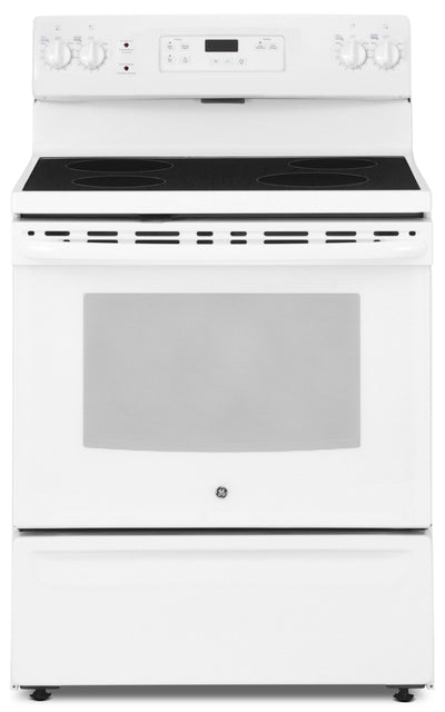 GE 5.0 Cu. Ft. Freestanding Electric Range – JCBS630DKWW - Electric Range in White
