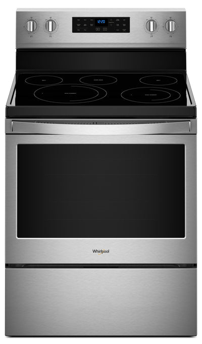 Whirlpool 5.3 Cu. Ft. Freestanding Electric Range with Fan Convection Cooking - Electric Range in Stainless Steel