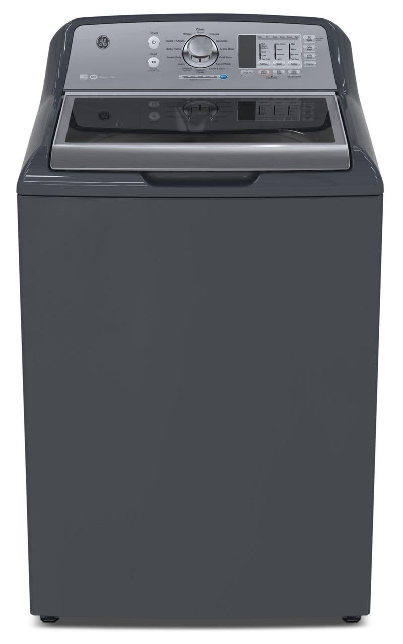 GE 5.3 Cu. Ft. Stainless Steel Top-Load Washer – GTW680BMMDG|Laveuse GE en acier inoxydable de 5,3 pi3 – GTW680BMMDG