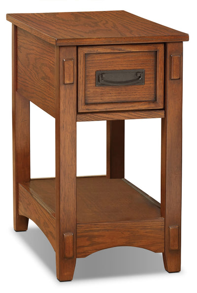 Sydney Accent Table – Oak - Traditional style End Table in Oak Wood