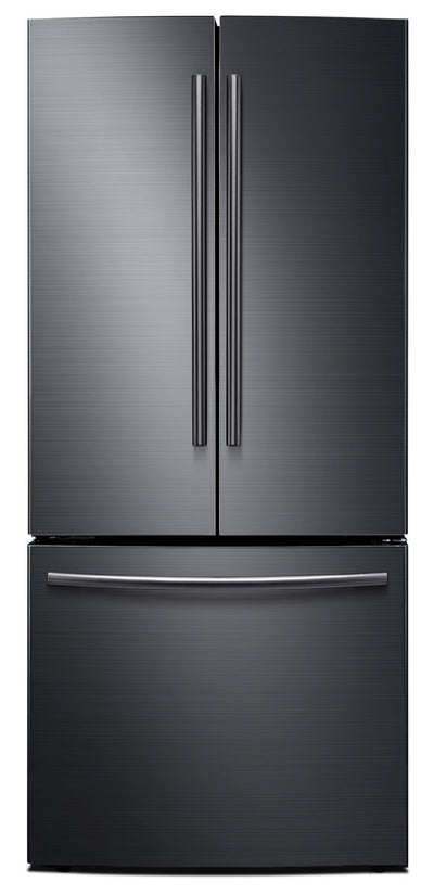 Samsung 22 Cu. Ft. French-Door Refrigerator – Black Stainless Steel RF220NCTASG - Refrigerator in Black Stainless Steel