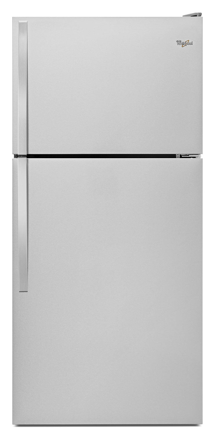 Whirlpool 18 Cu. Ft. Top-Freezer Refrigerator – WRT148FZDM - Refrigerator in Stainless Steel