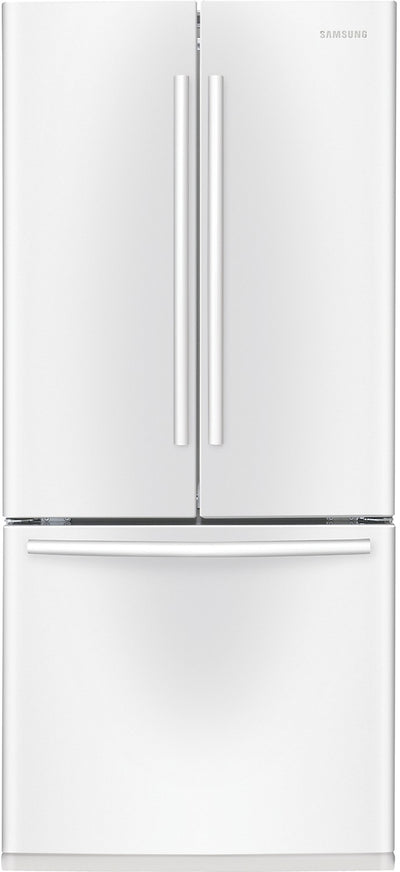 Samsung 21.6 Cu. Ft. 3-Door French Door Refrigerator - White - Refrigerator in White