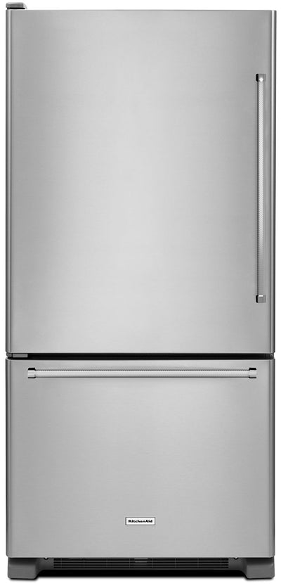 KitchenAid 22 Cu. Ft. Left Door Swing Bottom-Mount Refrigerator - KRBL102ESS|Réfrigérateur à congélateur inférieur KitchenAid de 22 pi³ - KRBL102ESS|KRBL102S
