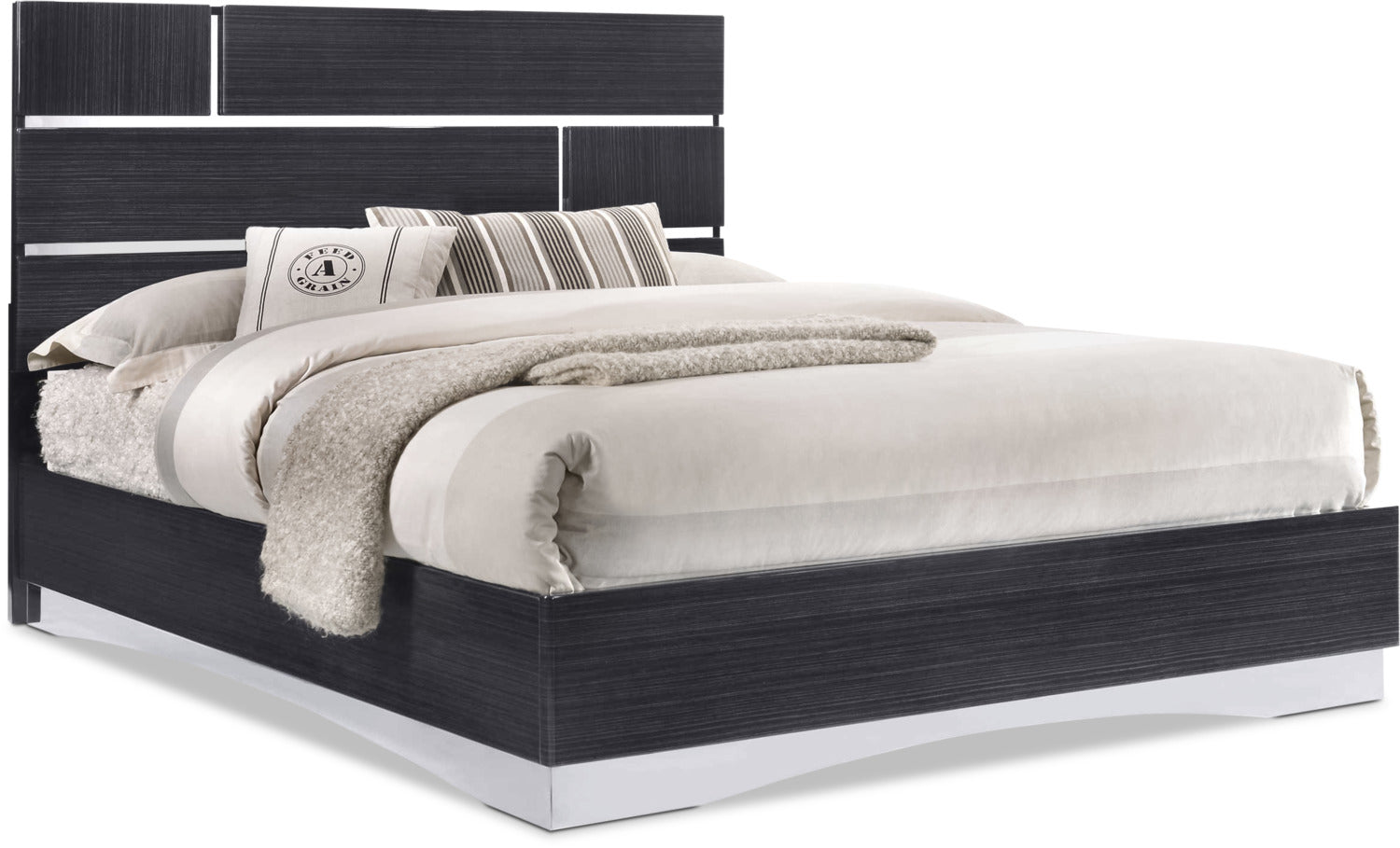 Stanton King Platform Bed Black The Brick