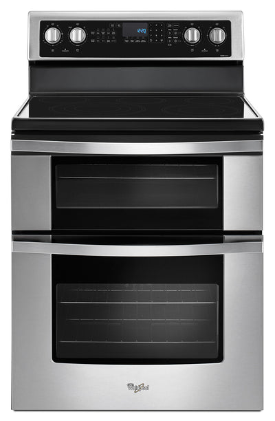 Whirlpool® 6.7 Cu. Ft. Electric Double Oven Range with True Convection - Electric Range in Stainless Steel