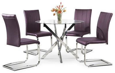 Tori 5-Piece Dining Package - Purple - Modern style Dining Room Set in Purple
