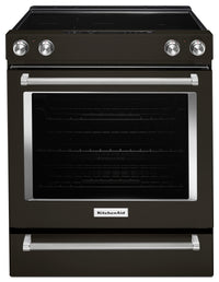 KitchenAid 6.4 Cu. Ft. Slide-In Electric Convection Range – YKSEG700EBS