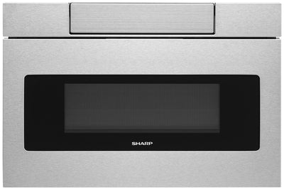 "Sharp 24"" 1.2 Cu. Ft. 950-Watt Microwave Drawer® Oven – SMD2477ASC - Built-In Microwave with Child Lock in Stainless Steel"