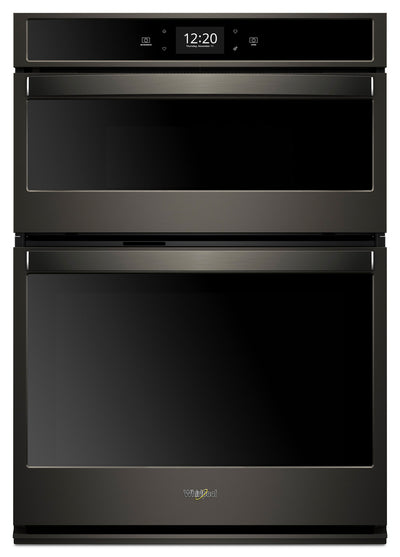Whirlpool 5.7 Cu. Ft. Smart Combination Wall Oven with Touchscreen - WOC75EC7HV - Double Wall Oven in Black Stainless Steel