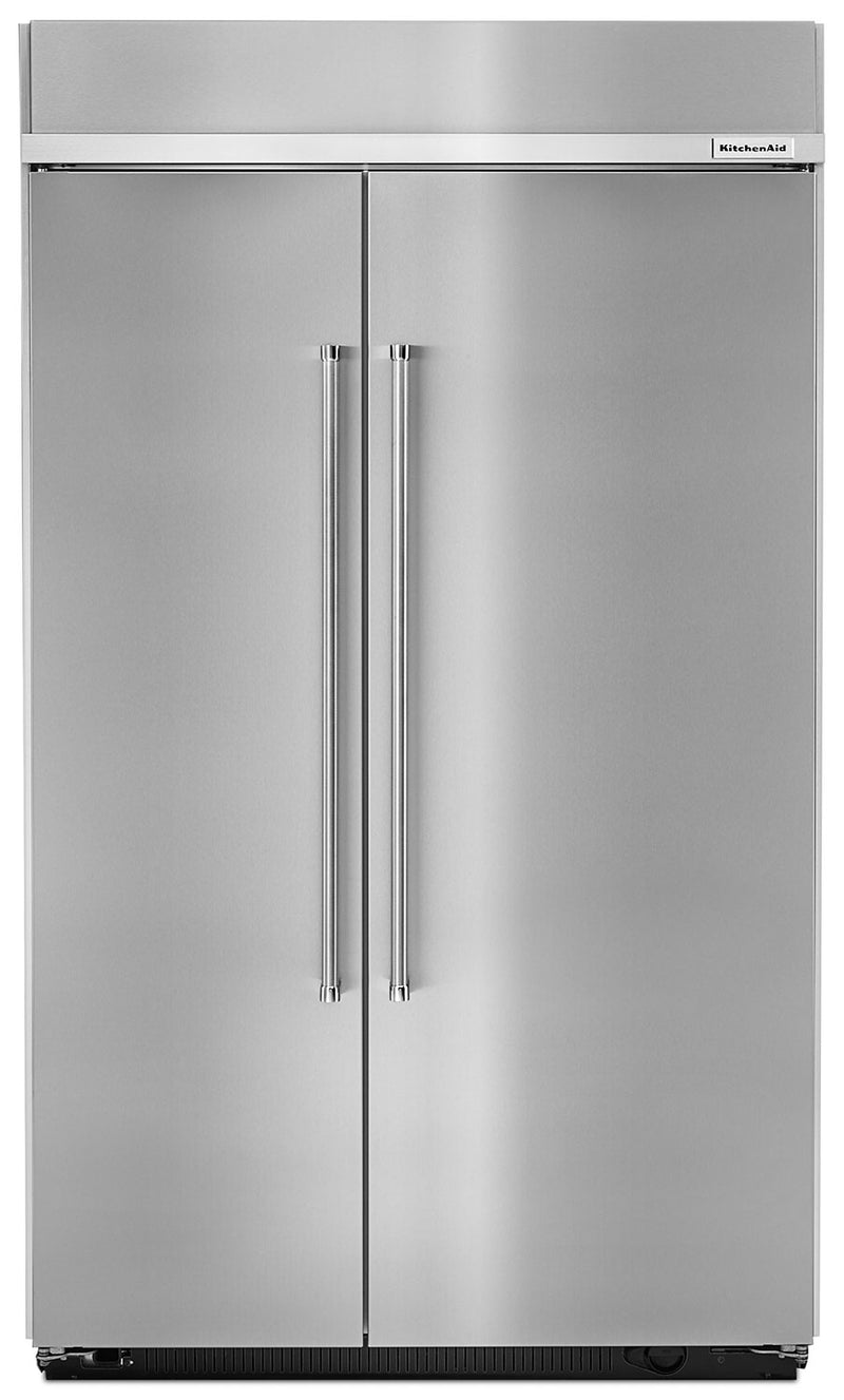 KitchenAid 30.0 Cu. Ft Built-In Side-by-Side Refrigerator – KBSN608ESS - Refrigerator in Stainless Steel