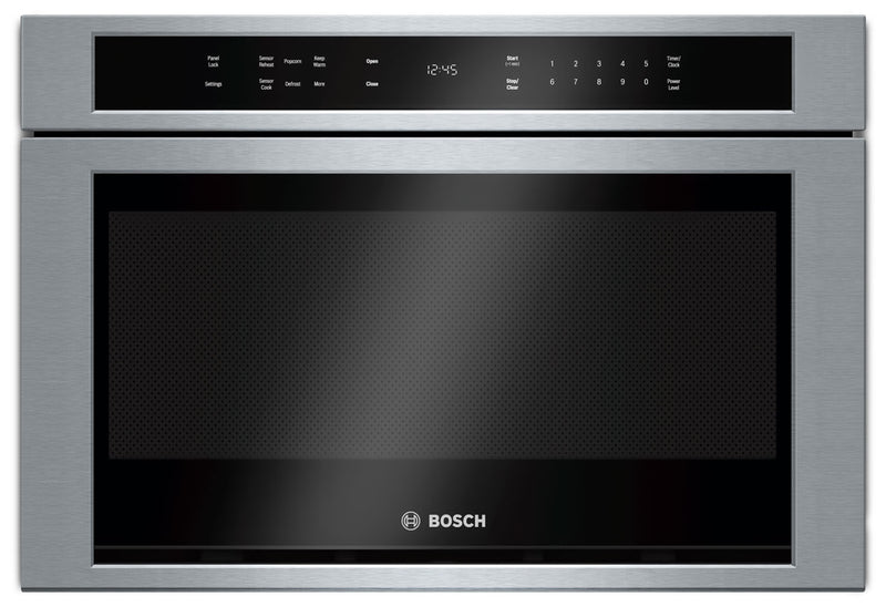 Bosch 800 Series 1.2 Cu. Ft. Drawer Microwave – HMD8451UC - Built-In Microwave in Stainless Steel