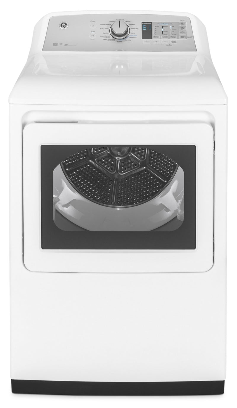 GE 7.4 Cu. Ft. Aluminized Alloy Drum Electric Dryer with HE Sensor Dry – GTD75ECMLWS|Sécheuse électrique GE de 7,4 pi³ avec séchage haute efficacité - GTD75ECMLWS