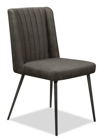 Oliver Dining Chair - {Contemporary} style Dining Chair in Grey {Metal}