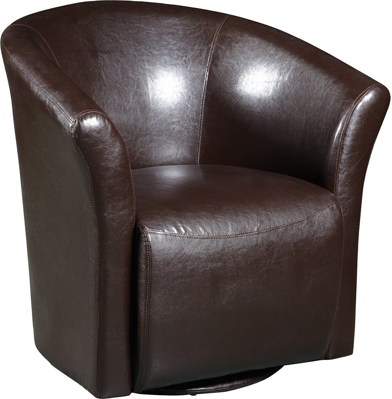 Brown Swivel Accent Chair|Fauteuil d'appoint pivotant brun|ST-823BRS
