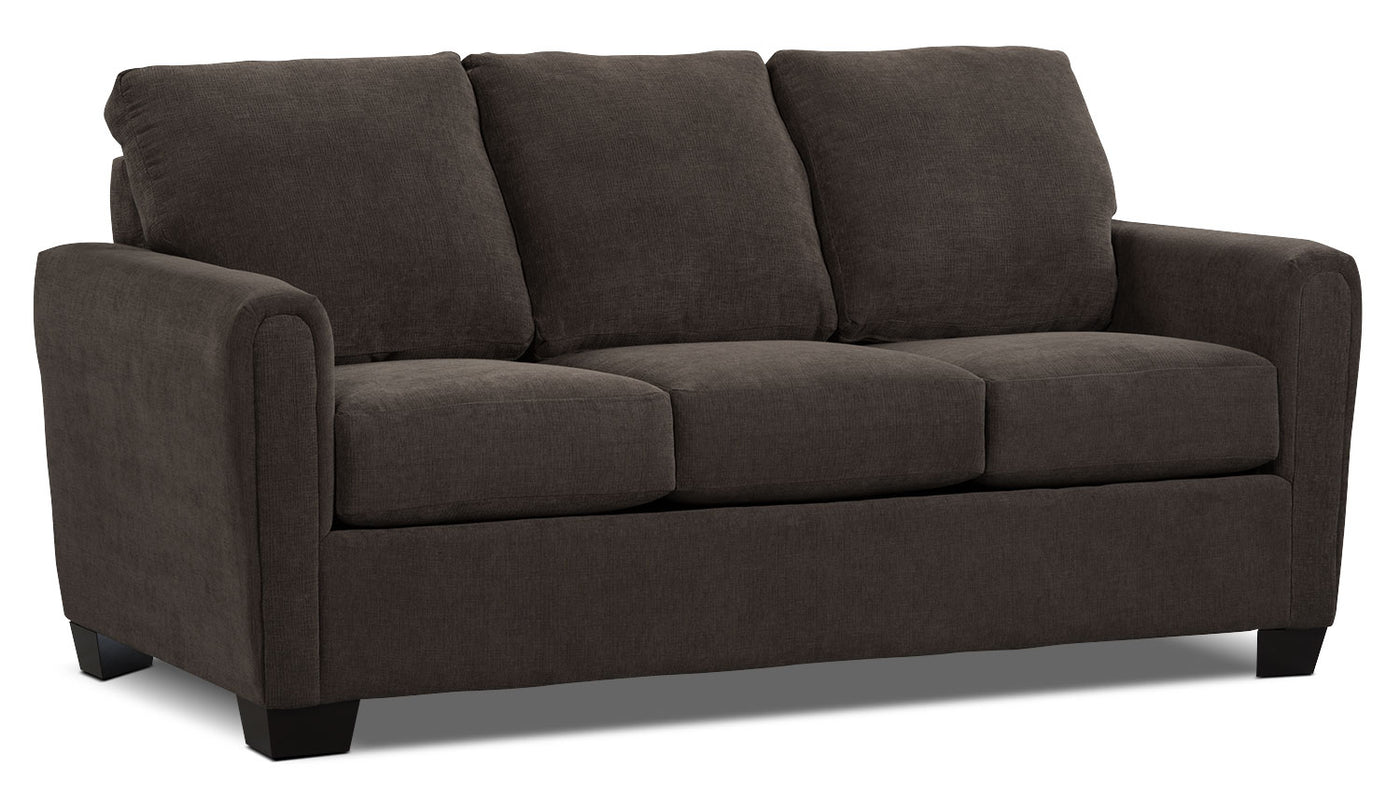 Spa Collection Chenille Full Size Sofa Bed With Memory Foam Mattres