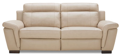 Seth Genuine Leather Power Reclining Sofa – Rope - Modern style Sofa in Rope